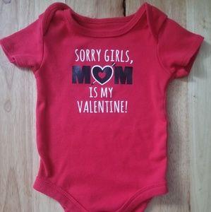 Valentine's Day Onesie 6-9 months